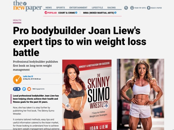 The New Paper (May 2019) – Pro Bodybuilder Joan's expert tips to win weight loss battle